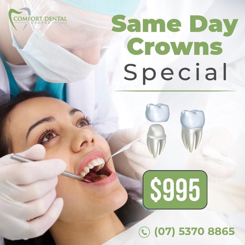 same day crown special | Dental crown in Buderim
